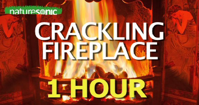 Crackling FIREPLACE – 1 hour of Soothing Fire Sound for Relaxation and Sleep