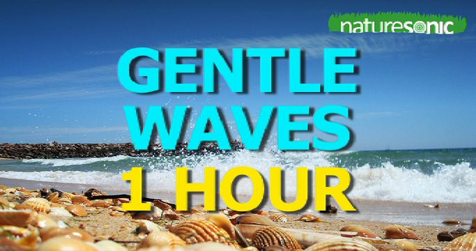 Gentle Waves Crash on the Portuguese Shoreline – Calming Surf Sound Ambience